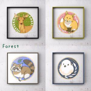 森の生き物