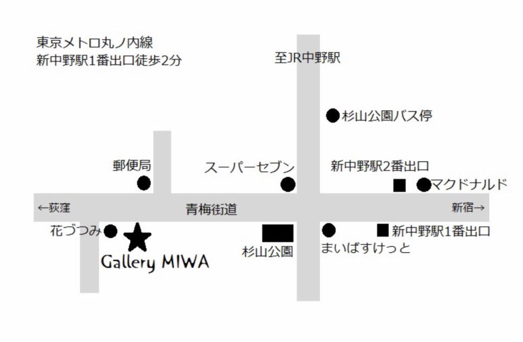ギャラリーmiwaマップ